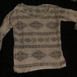 Aztec design shirt